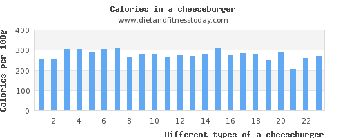 a cheeseburger iron per 100g