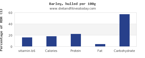 vitamin b6 and nutrition facts in barley per 100g