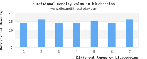 blueberries protein per 100g
