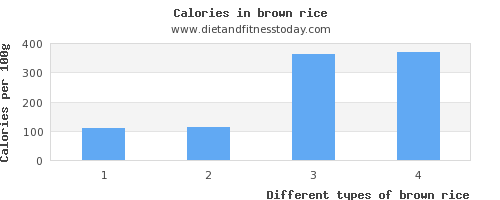 brown rice water per 100g