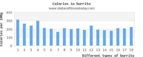burrito saturated fat per 100g