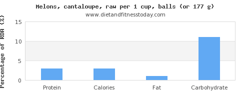 protein and nutritional content in cantaloupe