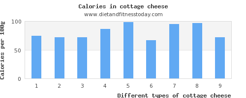 cottage cheese protein per 100g