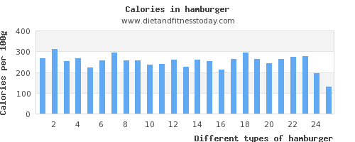 hamburger saturated fat per 100g