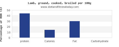 Protein in lamb, per 100g - Diet and Fitness Today