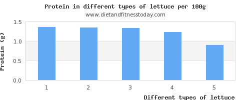 lettuce nutritional value per 100g