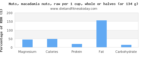 magnesium and nutritional content in macadamia nuts