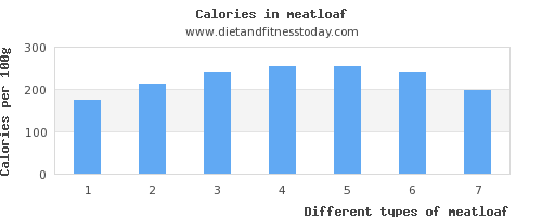 meatloaf protein per 100g