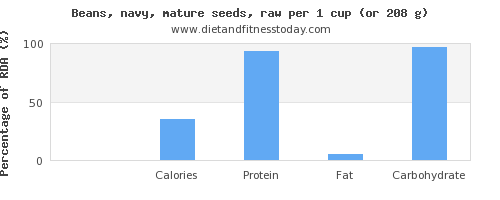 riboflavin and nutritional content in navy beans