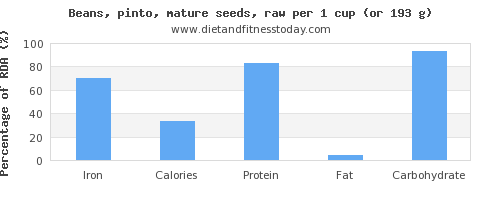 iron and nutritional content in pinto beans