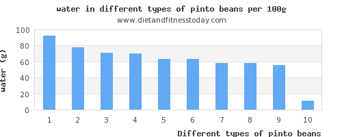 pinto beans water per 100g