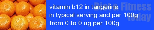 vitamin b12 in tangerine information and values per serving and 100g