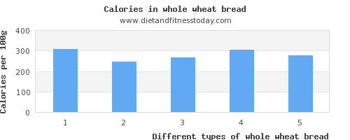 whole wheat bread protein per 100g