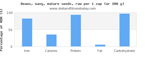 iron and nutritional content in navy beans