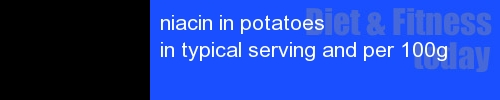 niacin in potatoes information and values per serving and 100g